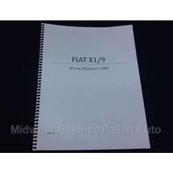 Wiring Diagrams Manual (Fiat X19 1980) - NEW