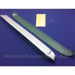 "Window ""Ventshades"" Stainless Trim Kit (Fiat 124 Coupe A-Series) - OE NOS"