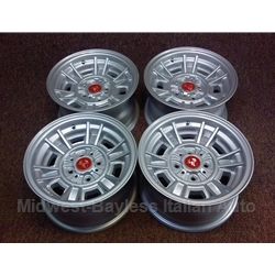 "Alloy Wheels SET 4x Cromodora CD-66 13x8"" (Fiat 124, X19, 850, 128, 131) - NEW"