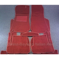 Carpet SET Red  LOOP (Fiat 124 Spider 1968-82 + 1983-On) - NEW