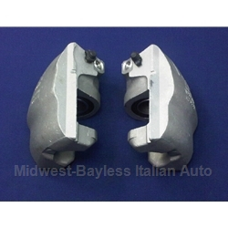 Brake Caliper - SET - Factory OE -  Front Left + Right (Fiat 124, 128, 131, Yugo, Scorpion All, Fiat X19 1979-On) - REMAN
