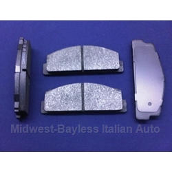 Brake Pad SET - Front Semi-Metallic (Fiat 850 Spider Coupe 1968-73) - NEW