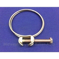 Hose Clamp Bolt-Style 62-68mm for Air Intake AFM Snorkel Filter (Fiat Bertone X19 1980-88) - OE / RENEWED