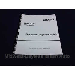 Electrical Diagnosis Guide (Fiat X19 1973-78) - NEW