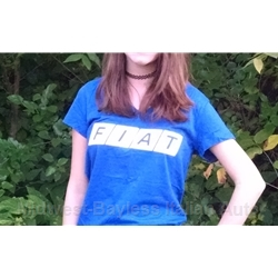 FIAT Front Logo Ladies V-Neck T-Shirt Blue
